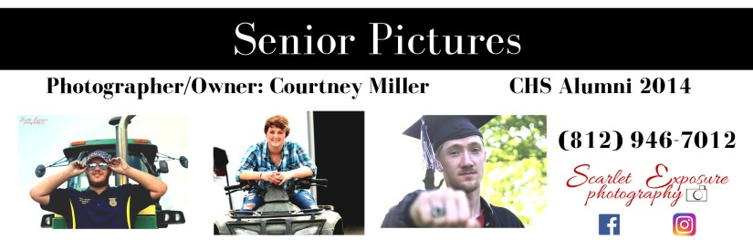 Senior Pictures Scarlet Newspaper Ad