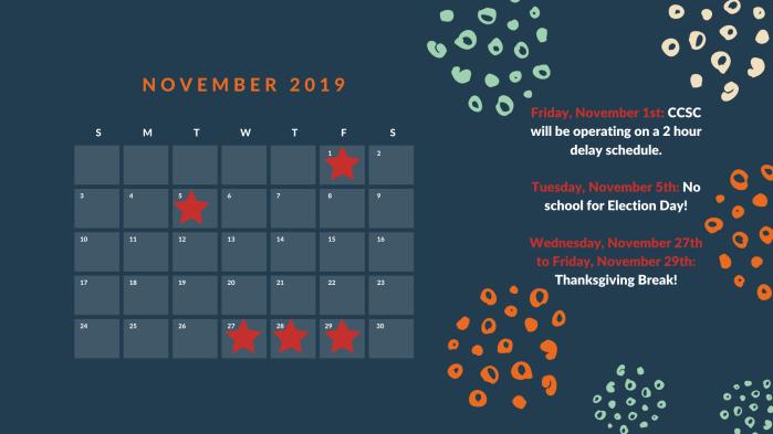 Navy Blue, Mint Green and Orange Retro Strokes General Calendar