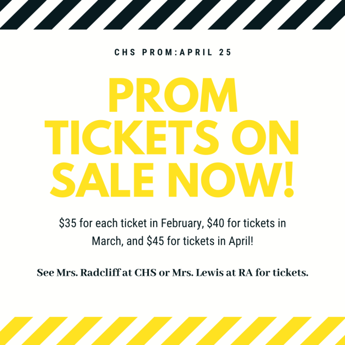 Prom Tickets on Sale!