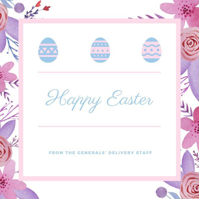 Pastel Dainty Floral Easter Brunch Invitation