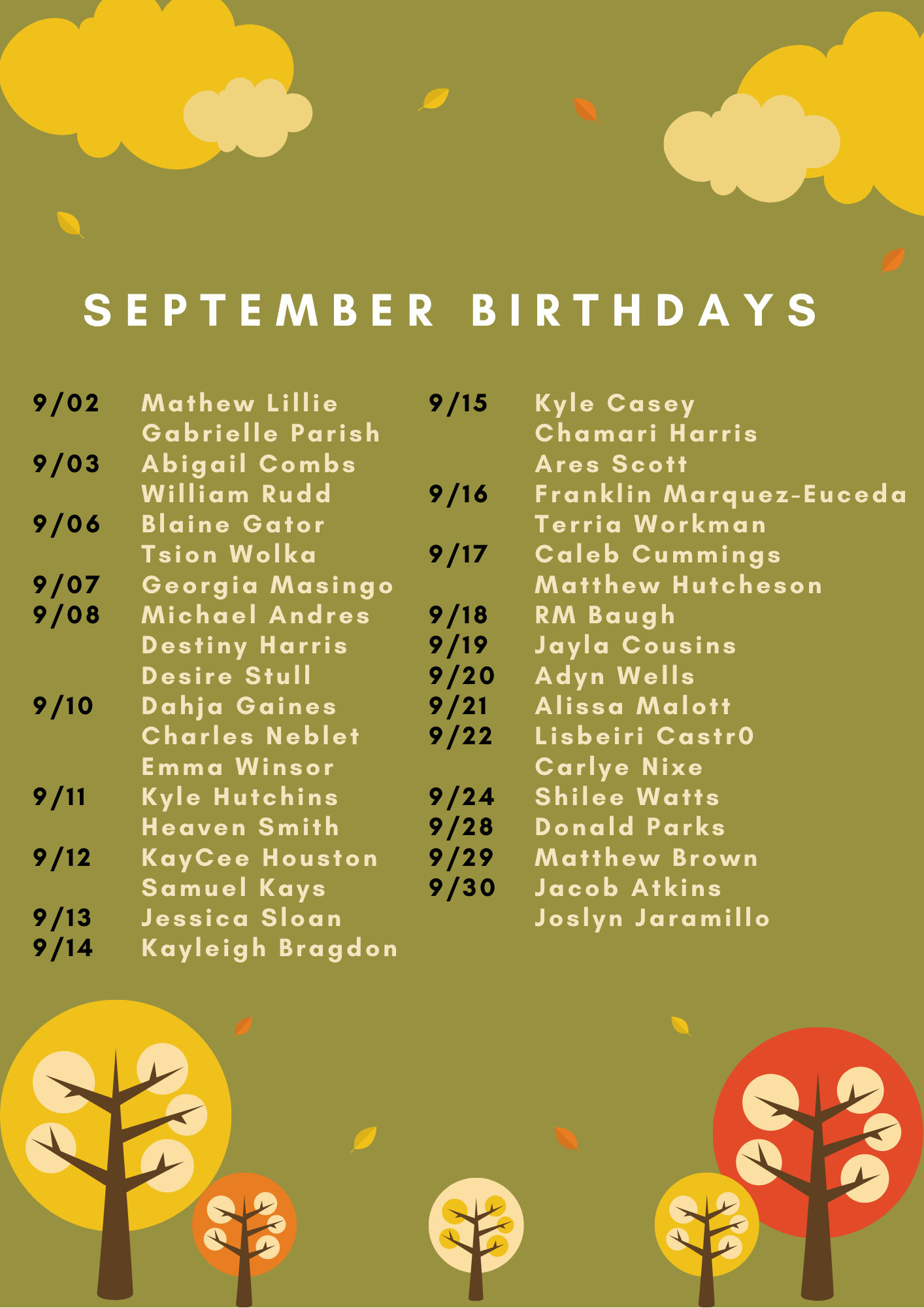 September Birthdays